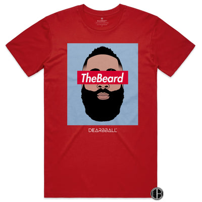 James Harden Shirt - THe Beard Blue Houston Rockets Basketball Dearbball red