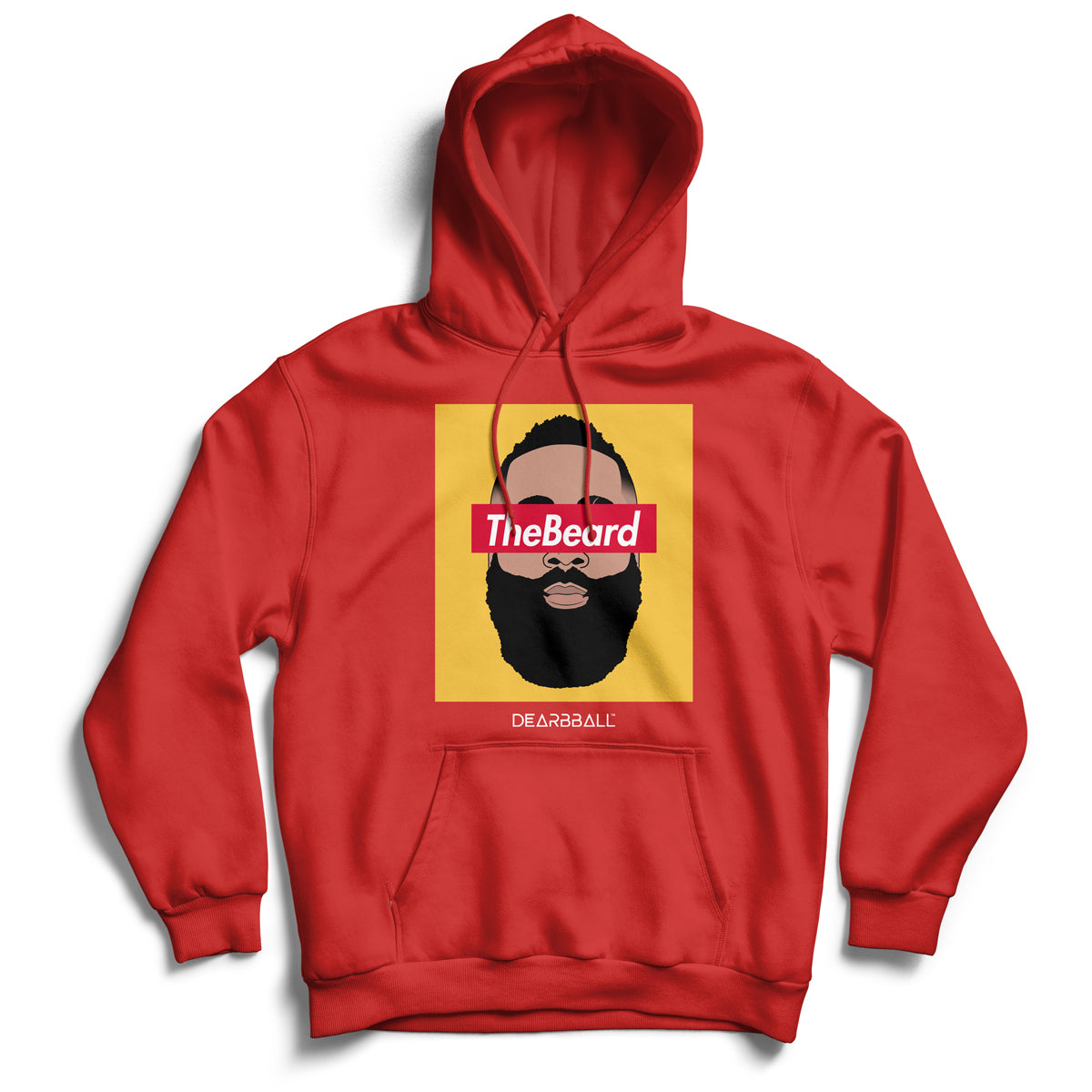 James_Harden_hoodie_THE_BEARD_YELLOW_Houston_Rockets_dearbball_red