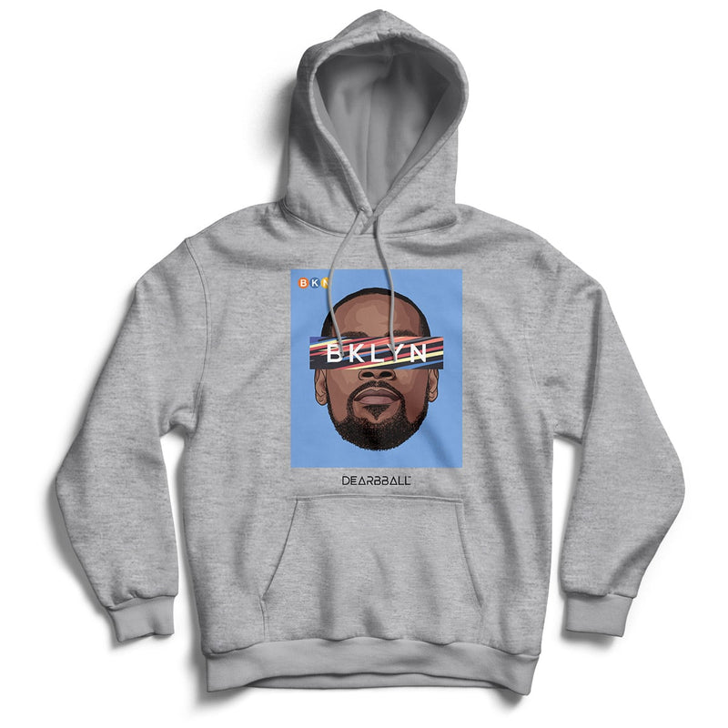 KEVIN DURANT Hoodie - BKLYN Blue BROOKLYN NETS Basketball Dearbball black