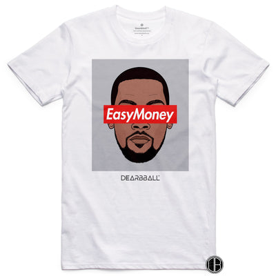 Kevin Durant Shirt - EasyMoney Brooklyn Colors Brooklyn Nets Basketball Dearbball white