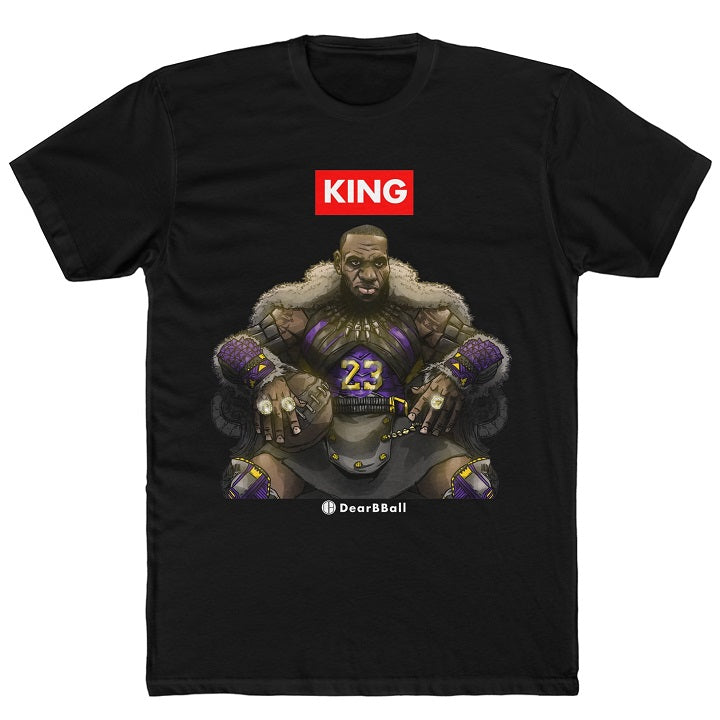 The KING on his Throne Black Shirt