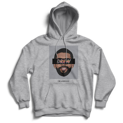 Kyrie Irving 2021 Hoodie - Drew BKLYN  Brooklyn Nets Basketball Dearbball grey