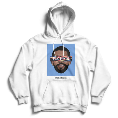 Kyrie Irving 2021 Hoodie - Kyrie Bklyn Blue Brooklyn Nets Basketball Dearbball white