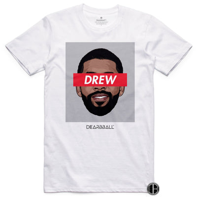 Kyrie Irving 2021 T-Shirt - Drew Classic  Brooklyn Nets Basketball Dearbball white