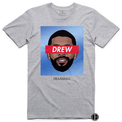 Kyrie Irving 2021 T-Shirt - Drew Tie-Dye Brooklyn Nets Basketball Dearbball grey