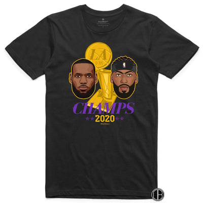 LEBRON And AD T-Shirt - LA Champion Tribute 2020 Los Angeles Lakers Basketball Dearbball black