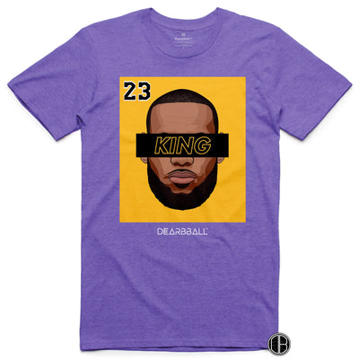 LEBRON JAMES T-Shirt - KING 23 Gold Black Limited Edition Los Angeles Lakers Basketball Dearbball purple