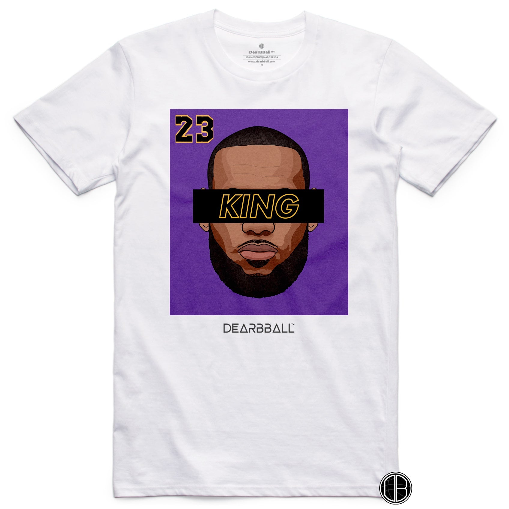 LEBRON JAMES T-Shirt KING 23 Purple Black Limited Edition white