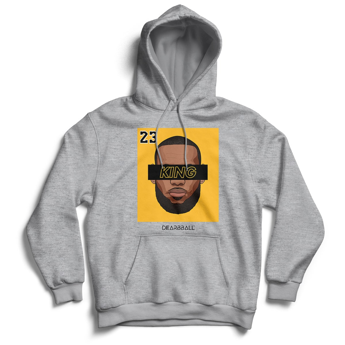 Lebron James Hoodie - KING 23 Gold Black Los Angeles Lakers Basketball Dearbball grey
