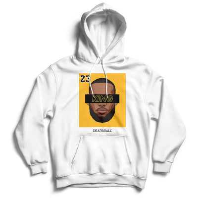 Lebron James Hoodie - KING 23 Gold Black Los Angeles Lakers Basketball Dearbball white