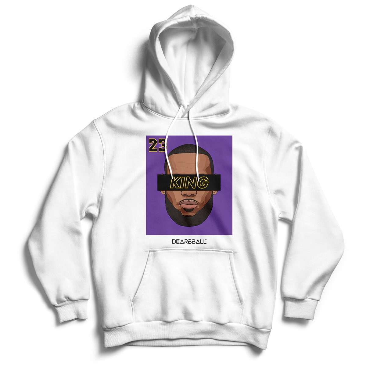 Lebron James Hoodie - KING 23 Purple Black Los Angeles Lakers Basketball Dearbball white