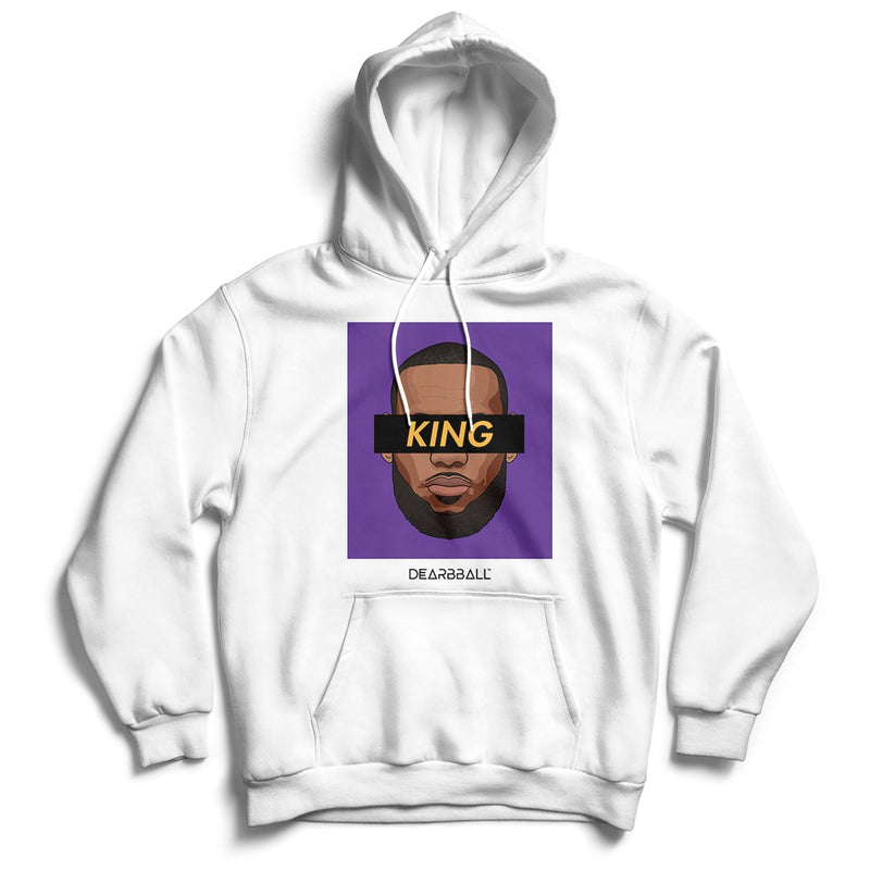 Lebron James Hoodie - KING LA Los Angeles Lakers Basketball Dearbball black