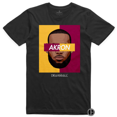 Lebron James T-Shirt - AKRON BiColor Limited Edition Black