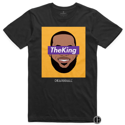 Lebron James T-Shirt - The King LA Los Angeles Lakers Basketball Dearbball black