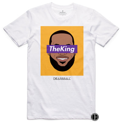 Lebron James T-Shirt - The King LA Los Angeles Lakers Basketball Dearbball white