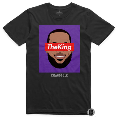 Lebron James T-Shirt - The King Los Angeles Lakers Basketball Dearbball black