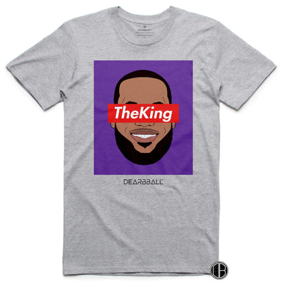 Lebron James T-Shirt - The King Los Angeles Lakers Basketball Dearbball grey