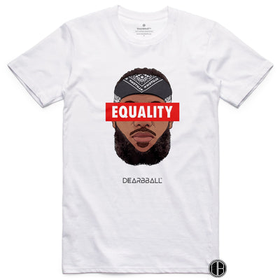 Lebron_James_Shirt_Bandana_Red_BLM_Equality_Dearbball_White