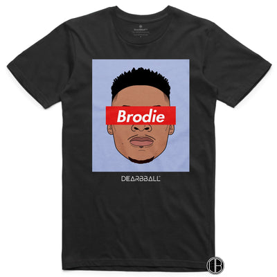 Russel Westbrook T-Shirt - Brodie Blue Houston Rockets Basketball Dearbball black