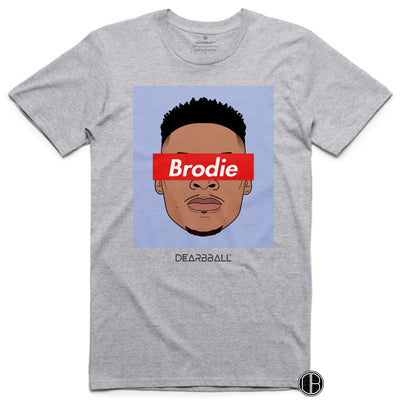 Russel Westbrook T-Shirt - Brodie Blue Houston Rockets Basketball Dearbball grey
