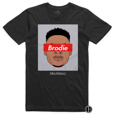 Russel Westbrook T-Shirt - Brodie Grey Houston Rockets Basketball Dearbball black