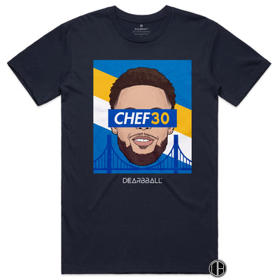 Stephen Curry T-Shirt - CHEF30 Limited T-shirt Navy DEARBBALL BASKETBALL