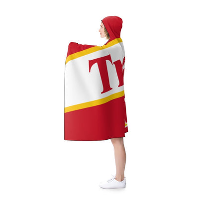 Trae Young Hooded Blanket - 11 Hawks Throwback Red
