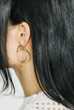 Load image into Gallery viewer, Serpent Earrings in Brass or Silver