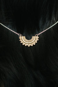 Large Sunray Necklace Brass