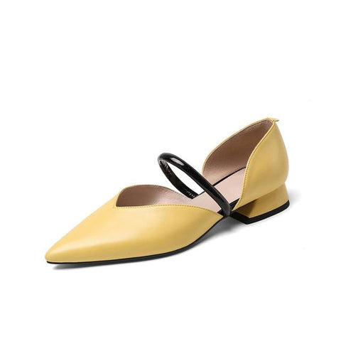 Genuine Leather Classic Flats