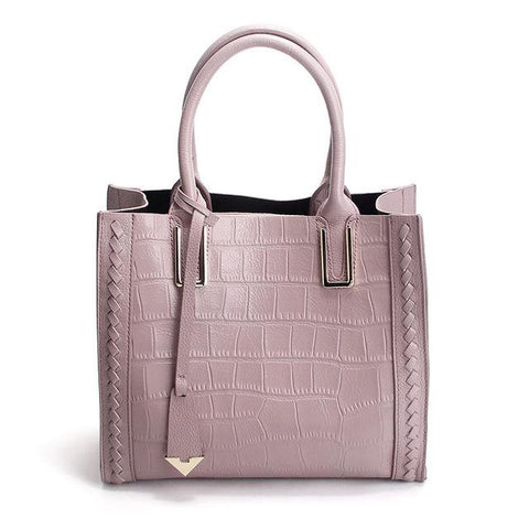 Genuine Leather Handle Top Handbags