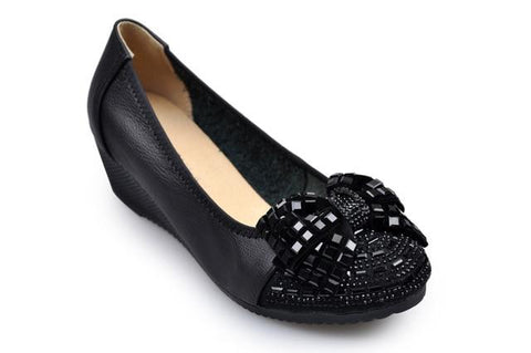 Genuine Leather Party Flats