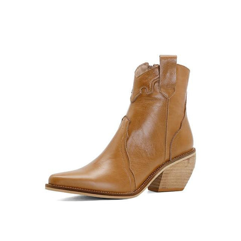 Genuine Leather Western Boots