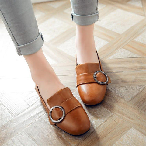 Ladies Buckle Flats