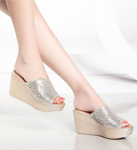 Luxury Crystal Wedges