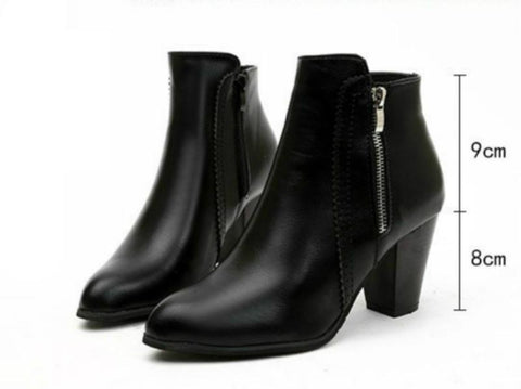 Pointed Toe Ankle HIgh Boots