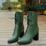Pointed Toe Back Zipper Boots