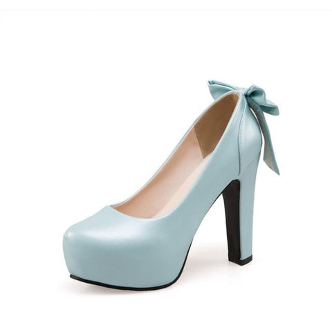 Sweet Bow Platform Party Pumps