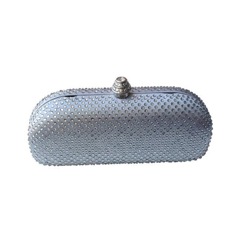 Elegant Crystal Box Clutch