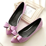 Women Soft Leather Flats Ballet Flat Slip On Shoes
