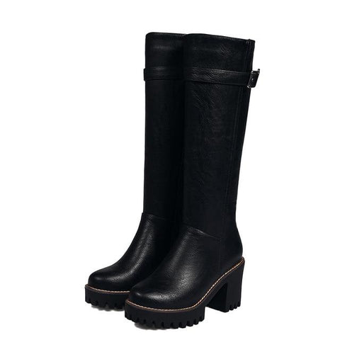 Women Round Toe Zipper Boots