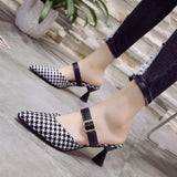 Women Slip-On Shoes Pointed To Mid Heels