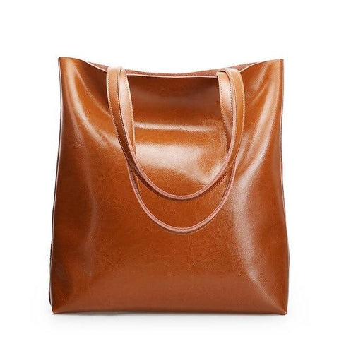 Genuine Leather Large Shoulder Handbags