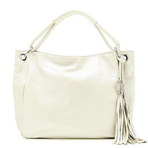 Soft Leather Tassel Shoulder Handbags