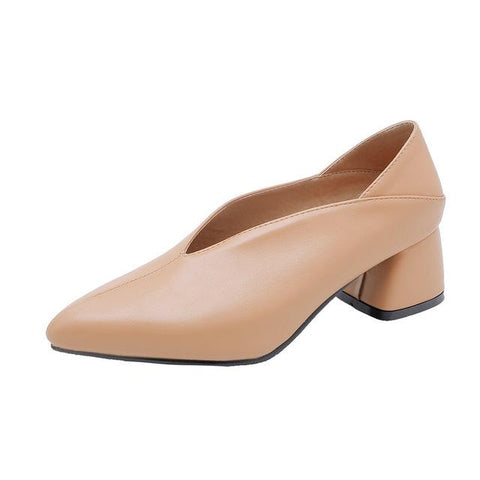 Mules Square Heel Pointed Toe Classic Casual