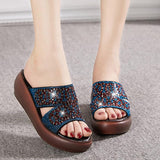 Rhinestone Casual Wedges