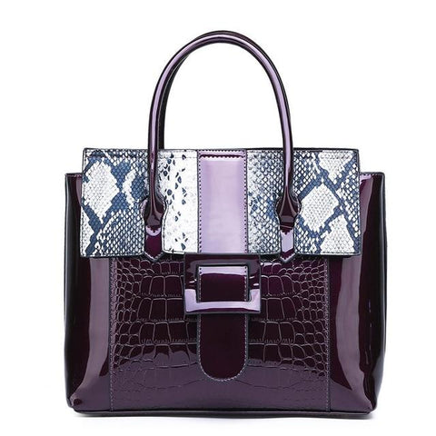 Serpentine Patent Handbags