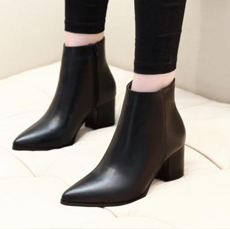 Thick Heels Ankle Boots