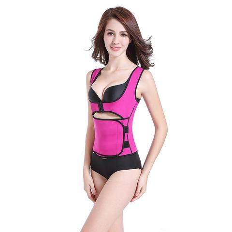 1668cdd374 NEW Ultra-Thin Sweat Vest With Adjustable Bust Support Hooks And Waist  Cincher