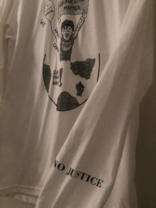 Ö white BLM long sleeve